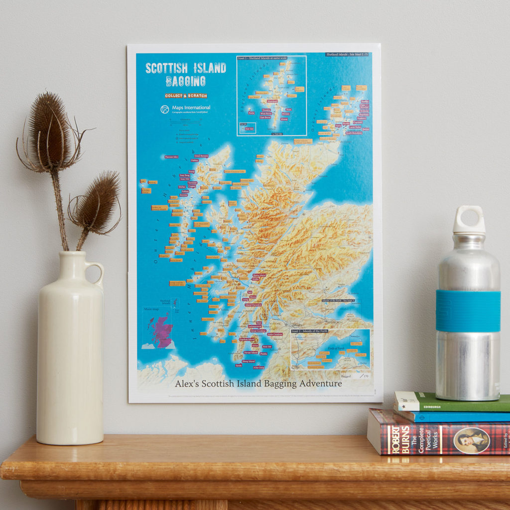 Collect and Scratch Scottish Island Bagging Print