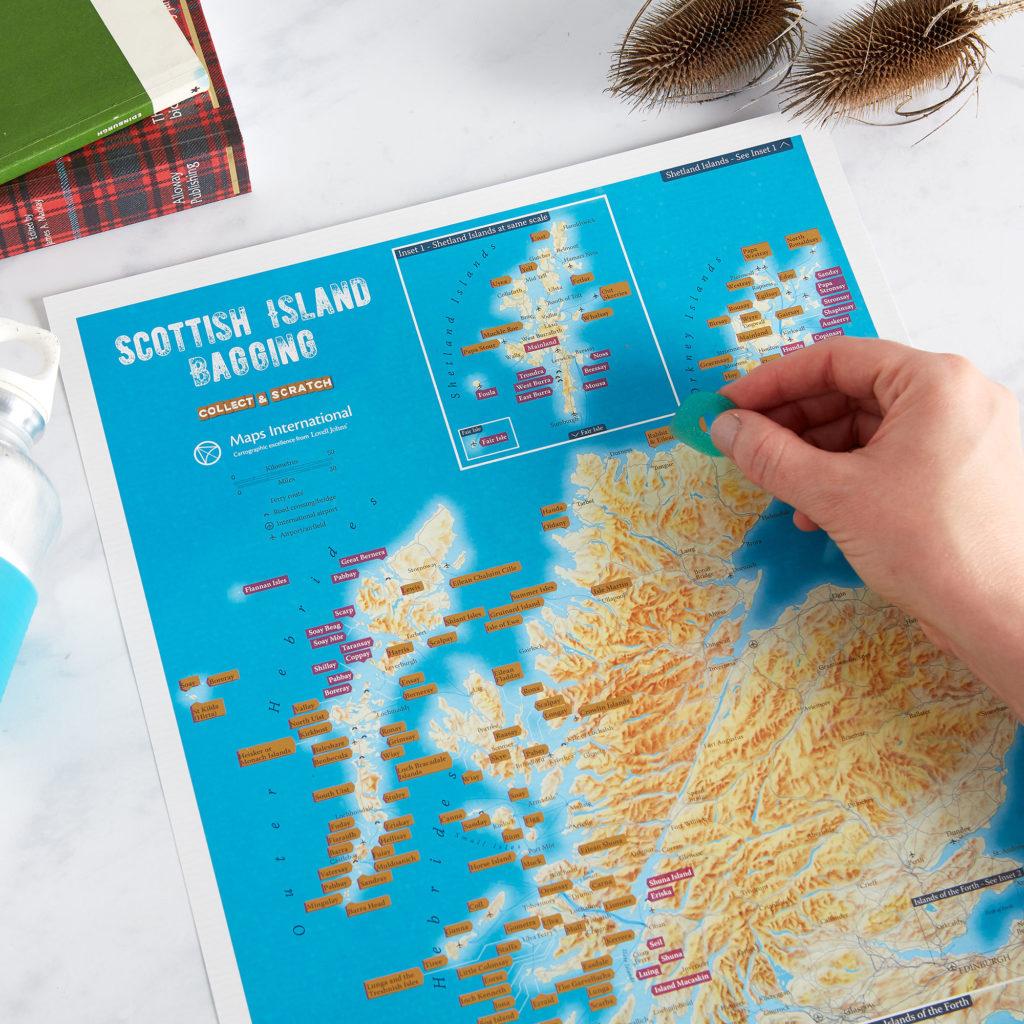 Scratch Off Scottish Island Bagging Map image