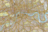 Large A-Z Canvas London Street Map (Rolled Canvas - No Frame)