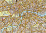 Small A-Z Canvas London Street Map (Rolled Canvas - No Frame)