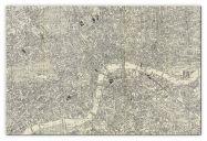 Large A-Z Historical Canvas Map Central London (Canvas)
