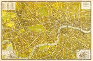 Large A-Z Pictorial Canvas Map Central London 1938 (Rolled Canvas - No Frame)