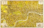 Medium A-Z Pictorial Canvas Map Central London 1938 (Rolled Canvas - No Frame)