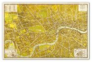 Medium A-Z Pictorial Canvas Map Central London 1938 (Canvas)