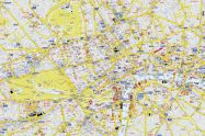 Large A-Z Visitors' Map London (Rolled Canvas - No Frame)
