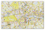 Medium A-Z Visitors' Map London (Canvas)