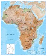 Huge Africa Wall Map Physical (Pinboard)