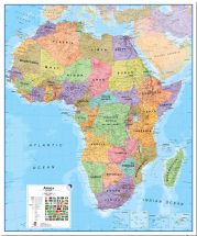 Huge Africa Wall Map Political (Pinboard)