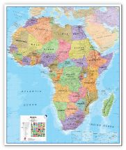 Large Africa Wall Map Political (Canvas)