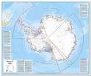 Huge Antarctica Wall Map Political (Pinboard)