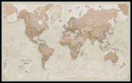 Huge Antique World Map (Pinboard & framed - Black)