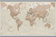 Medium Antique World Map (Hanging bars)