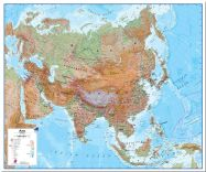 Huge Asia Wall Map Physical (Pinboard)