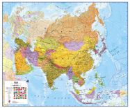 Large Asia Wall Map Political (Raster digital)