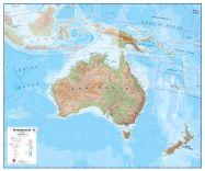 Large Australasia Wall Map Physical (Raster digital)