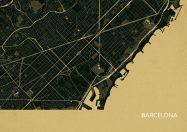 Barcelona City Street Map Print Straw