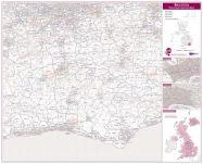 Brighton Postcode Sector Map (Laminated)