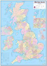 Large British Isles Administrative Map (Pinboard)