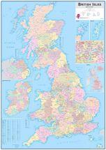 Large British Isles Administrative Map (Raster digital)