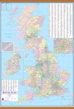 British Isles Planning Wall Map (Wooden hanging bars)