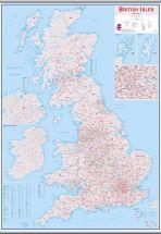 Large British Isles Postcode Map (Hanging bars)