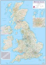 Large British Isles Routeplanning Map (Paper)