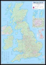 Huge British Isles Sales and Marketing Map (Pinboard & framed - Black)