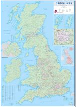 Large British Isles Sales and Marketing Map (Pinboard)