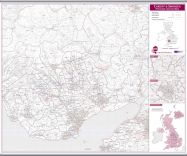 Cardiff and Swansea Postcode Sector Map (Hanging bars)