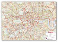 Huge Central London street Wall Map (Canvas)