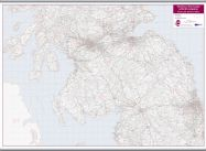 Central Scotland and Northumbria Postcode District Map (Hanging bars)
