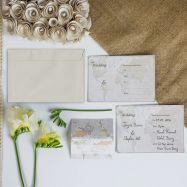 Classic World Map Wedding Invitations (Pack of 10)