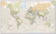Large Classic World Map (Pinboard)