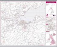 Edinburgh Postcode Sector Map (Hanging bars)