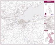 Edinburgh Postcode Sector Map (Laminated)