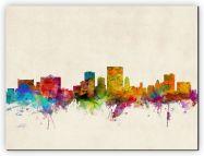 Medium El Paso Texas Watercolour Skyline (Canvas)