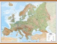 Huge Europe Wall Map Physical (Wooden hanging bars)