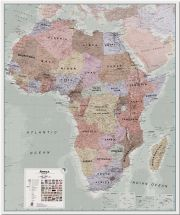 Huge Executive Africa political Wall Map (Pinboard)