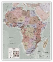 Large Executive Africa political Wall Map (Canvas)