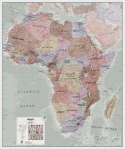 Large Executive Africa political Wall Map (Raster digital)