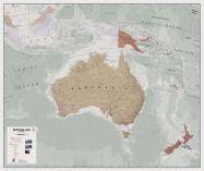 Executive Australasia Wall Map Political