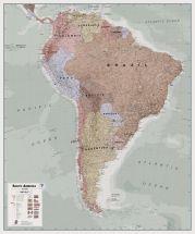 Huge Executive South America Wall Map Political (Laminated)