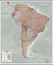 Huge Executive South America Wall Map Political (Hanging bars)