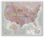Large Executive USA Wall Map (Canvas)