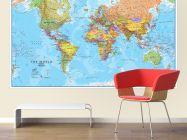 Huge World Wall Map Political (Laminated)