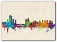 Large Leeds City Skyline (Canvas)