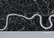 A3 London City Street Map Print Charcoal (Matt Art Paper)