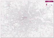 London Postcode District Wall Map (within M25) (Pinboard)