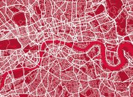 Large London Street Art Map (Rolled Canvas - No Frame)
