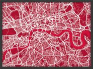 Medium London Street Art Map (Wood Frame - Black)